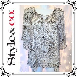 STYLE & CO * Loose Fit Embellished Tunic * XL